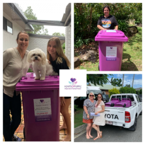 Purple bins fundraiser